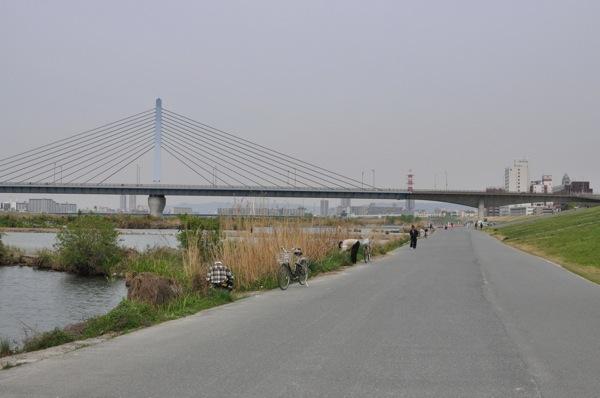 北大阪サイクルラインをクロス ...