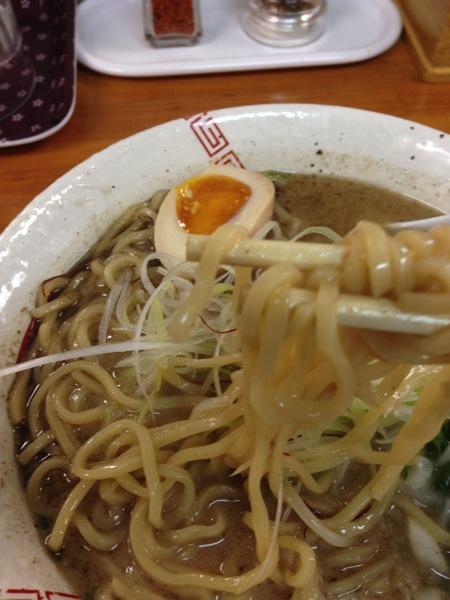鶏白湯スープと弥七らーめん