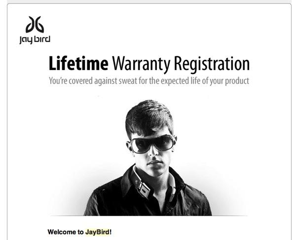 jaybird warranty registration