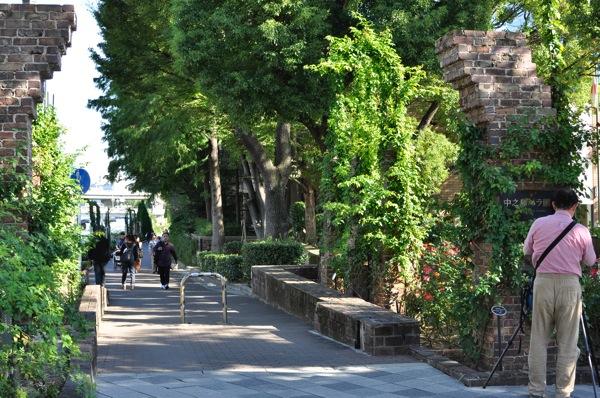 大阪・中之島公園のバラ園入り口