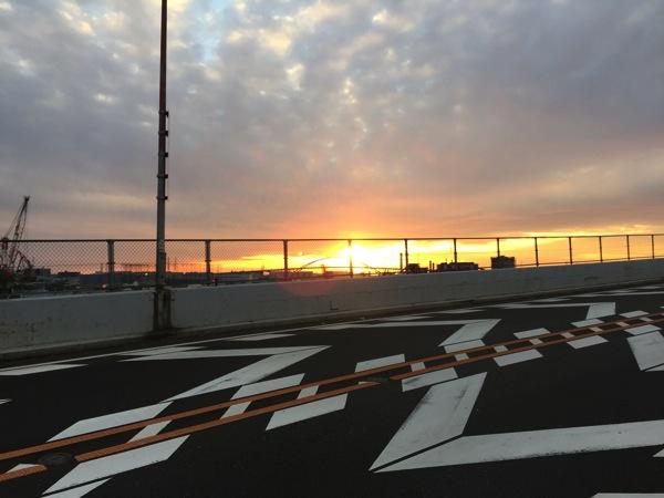 「めがね橋」の夕日