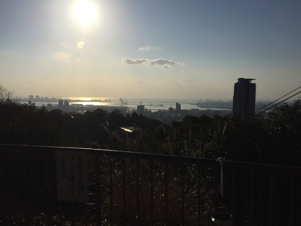 六甲山の展望台