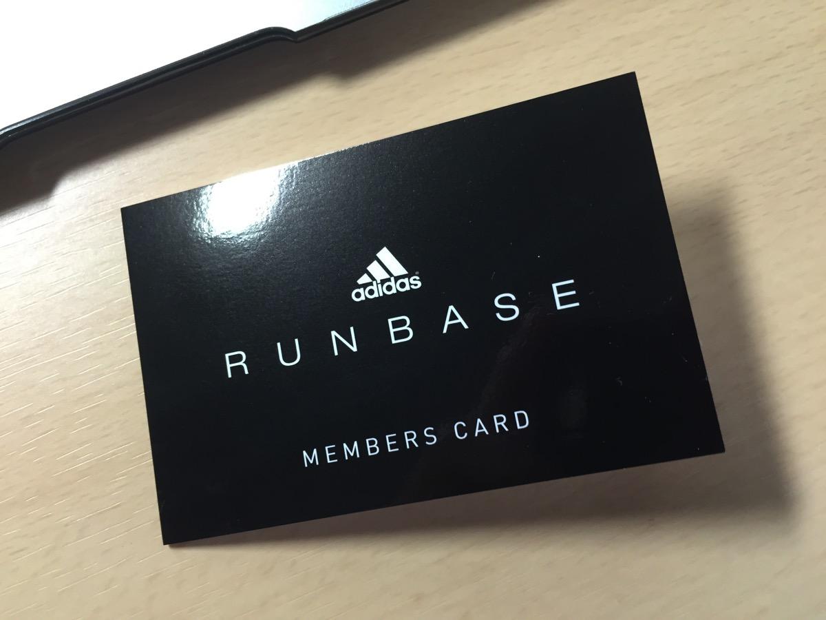 adidas RUNBASE Osakaのメンバーズカード