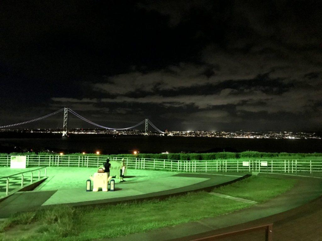 淡路サービスエリアの夜景